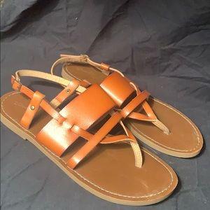 brownish sandals
